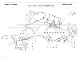 Ferrari F430 Spider HAND-BRAKE CONTROL