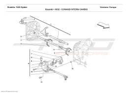 Ferrari F430 Spider INSIDE GEARBOX CONTROLS