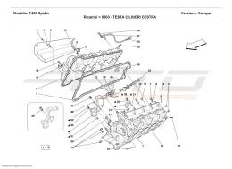Ferrari F430 Spider R.H. CYLINDER HEAD