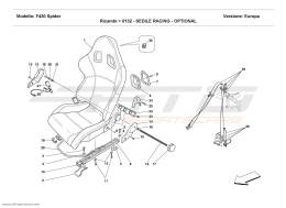 Ferrari F430 Spider RACING SEAT - OPTIONAL