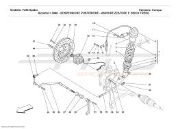 Ferrari F430 Spider REAR SUSPENSION - SHOCK ABSORBER AND BRAKE DISC