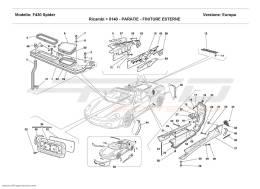 Ferrari F430 Spider SHIELDS - OUTSIDE FINISHING