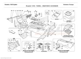 Ferrari F430 Spider TUNNEL - FRAMEWORK AND ACCESSORIES