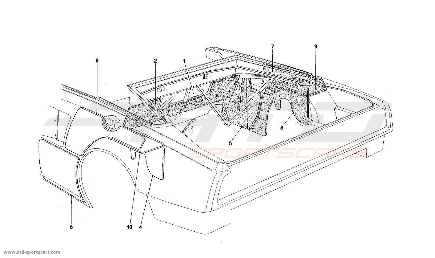 Ferrari Mondial T Engine Compartment Insulation Cabriolet For Ch Diagram Version Cars
