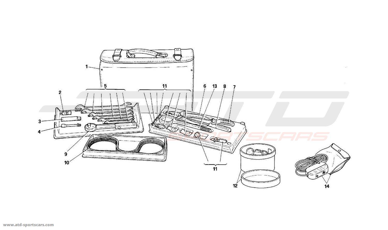 ferrari mondial t equipment vertical bag parts at atd sportscars atd sportscars. Black Bedroom Furniture Sets. Home Design Ideas