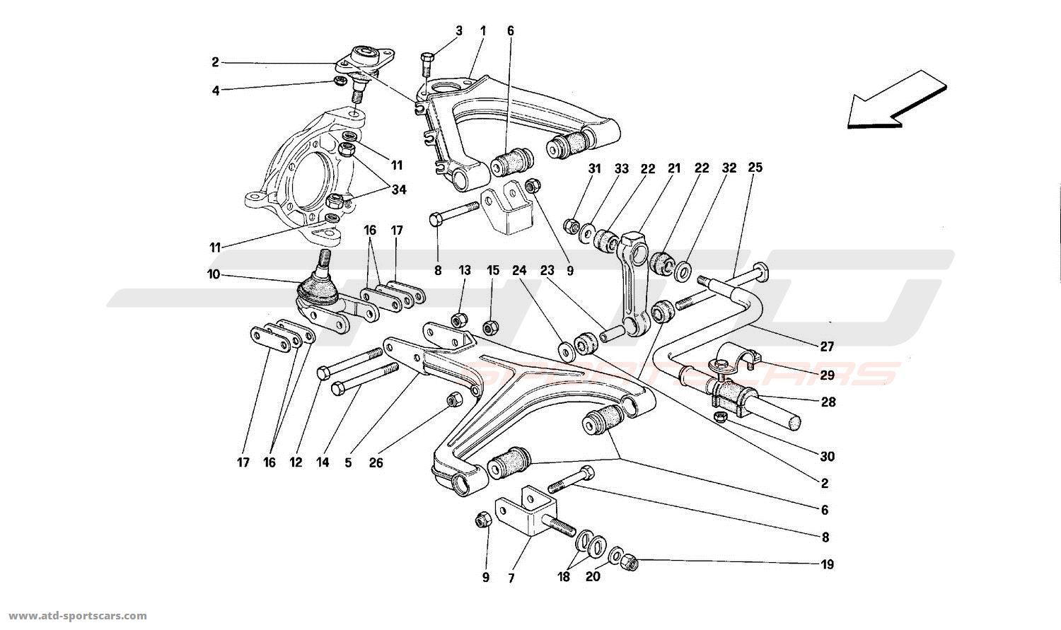 ferrari mondial t undercarriage parts at atd sportscars atd sportscars. Black Bedroom Furniture Sets. Home Design Ideas