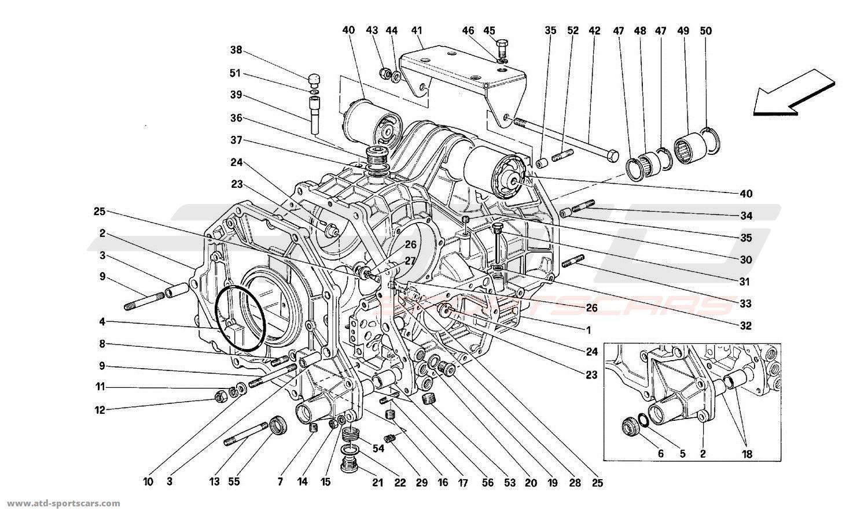 ferrari mondial t gearbox clutch parts at atd sportscars atd sportscars. Black Bedroom Furniture Sets. Home Design Ideas