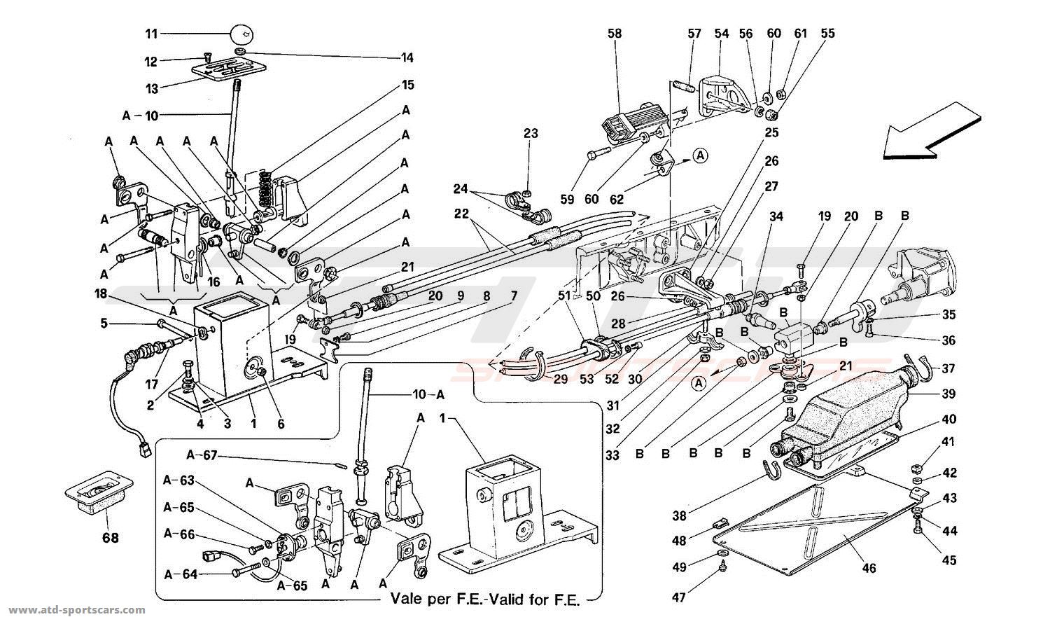 ferrari mondial t gearbox clutch parts at atd sportscars atd sportscars. Black Bedroom Furniture Sets. Home Design Ideas