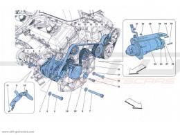 Ferrari FF GENERATORE DI CORRENTE - MOTORINO DI AVVIAMENTO