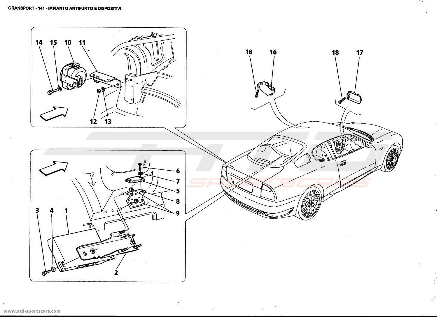 maserati 4200 gransport electrical parts at atd