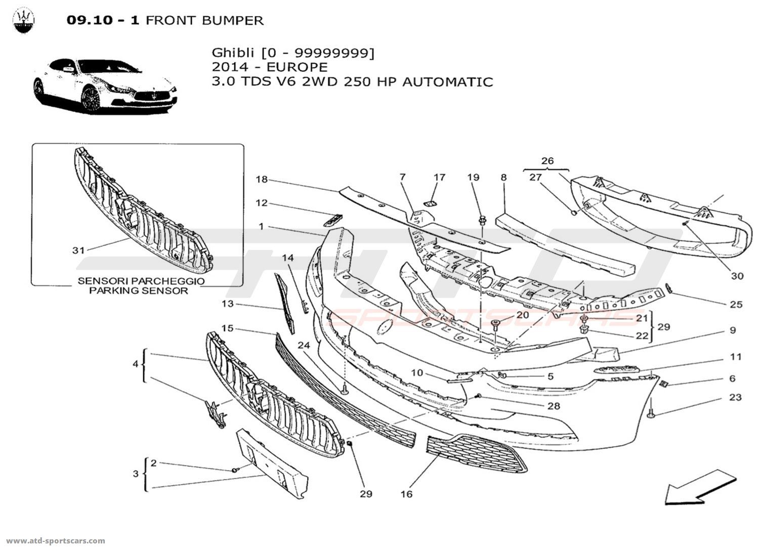 maserati quattroporte parts diagram