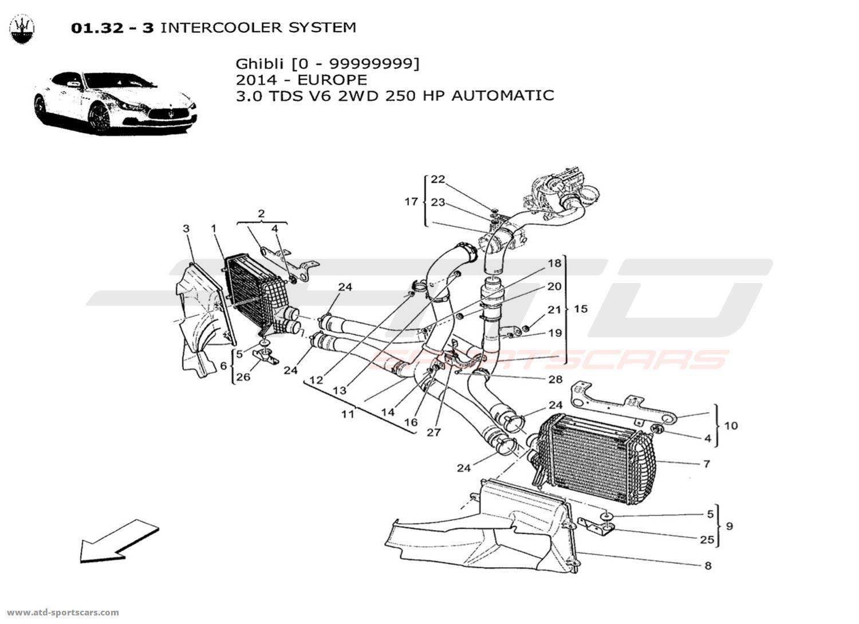 Maserati Ghibli V6 3 0l Diesel Auto 2014 Air Intake Fuel