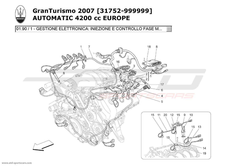 maserati granturismo 4 2l boite auto 2007 engine parts at atd