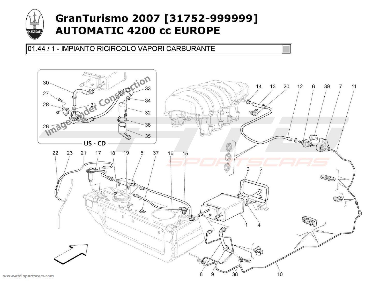 maserati granturismo 4 2l boite auto 2007 air intake