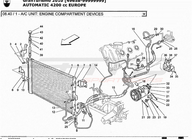 Maserati Granturismo 4 2l Boite Auto 2010 A  C Unit  Engine Compartment Devices Parts At Atd