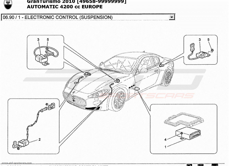 Maserati Granturismo 42l Boite Auto 2010 Electrical Parts At Atd Wiring Diagram 3 Electronic Control Suspension
