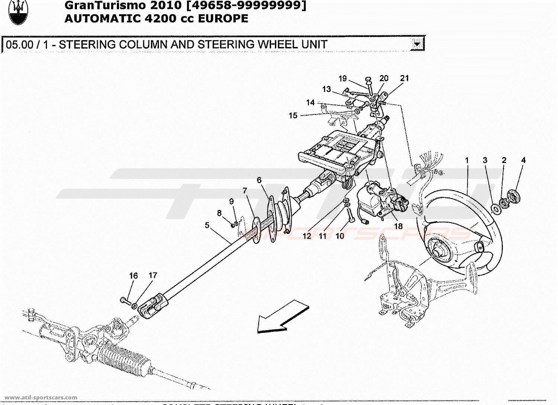 maserati granturismo 4 2l boite auto 2010 steering column and steering wheel unit parts at atd. Black Bedroom Furniture Sets. Home Design Ideas