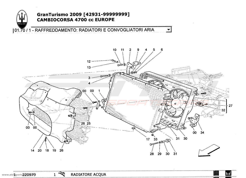 maserati granturismo 4 7l boite f1 2009 cooling