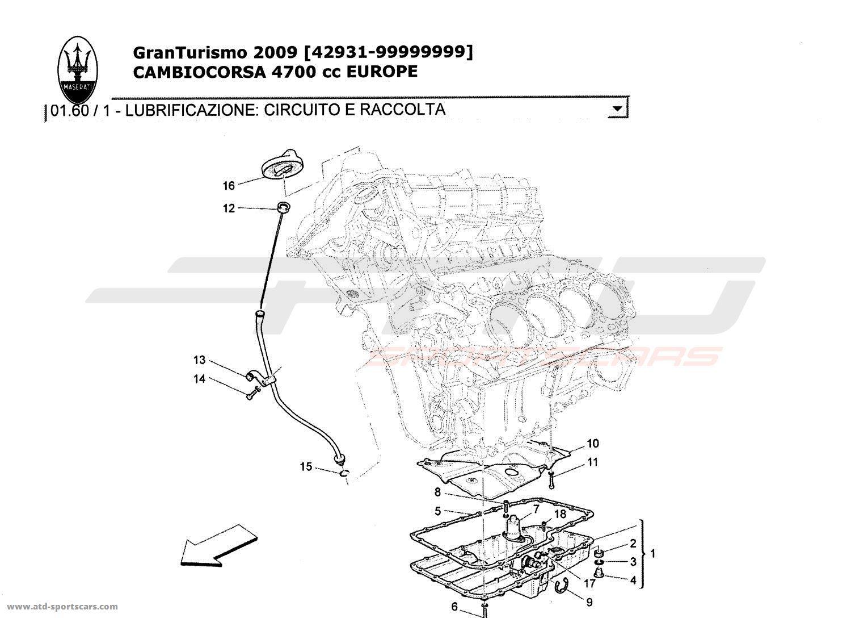 maserati granturismo 4 7l boite f1 2009 engine parts at atd