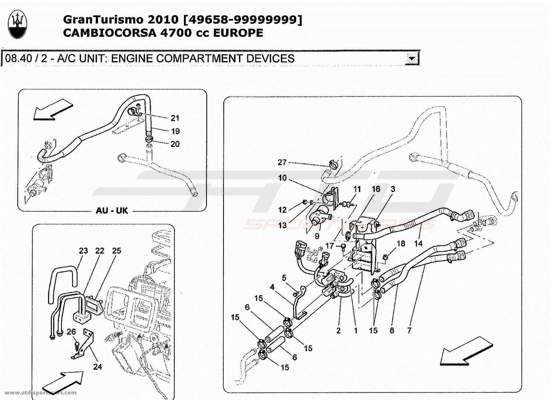 Maserati Granturismo 47l Boite F1 2010 A C Unit Engine Compartment 4 7l Diagram Valve Devices