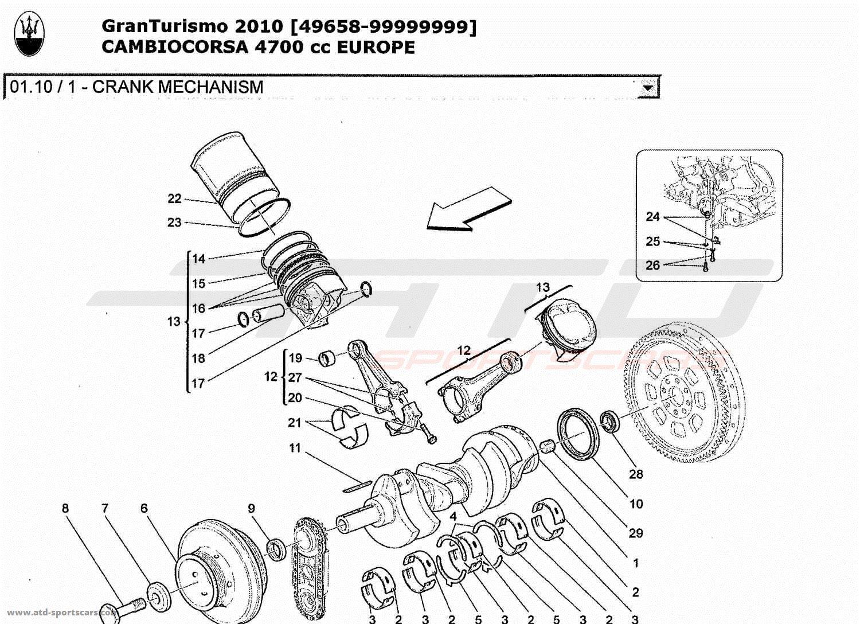 maserati granturismo 4 7l boite f1 2010 engine parts at atd