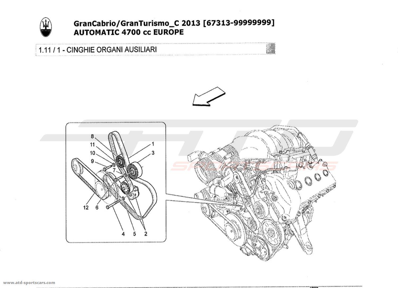 maserati granturismo grancabrio 4 7l auto 2013 engine parts at atd