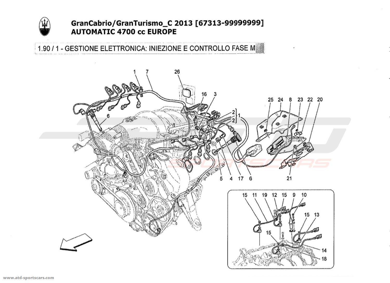 Maserati Granturismo Grancabrio 47l Auto 2013 Electronic Control Engine Timing Diagram Injection And