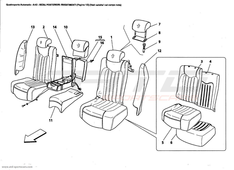maserati quattroporte 4 2l boite auto 2006 interior parts at atd sportscars atd sportscars. Black Bedroom Furniture Sets. Home Design Ideas