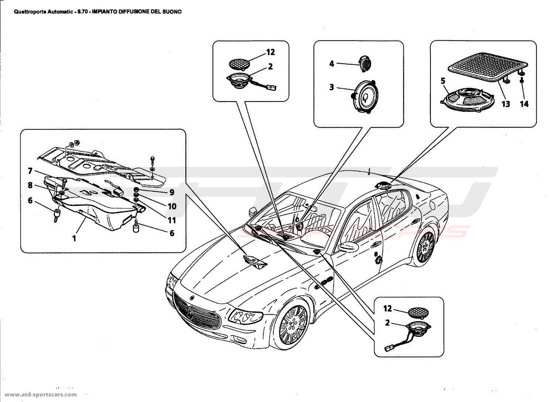 maserati quattroporte 4,2l boite auto 2006 sound proof system parts