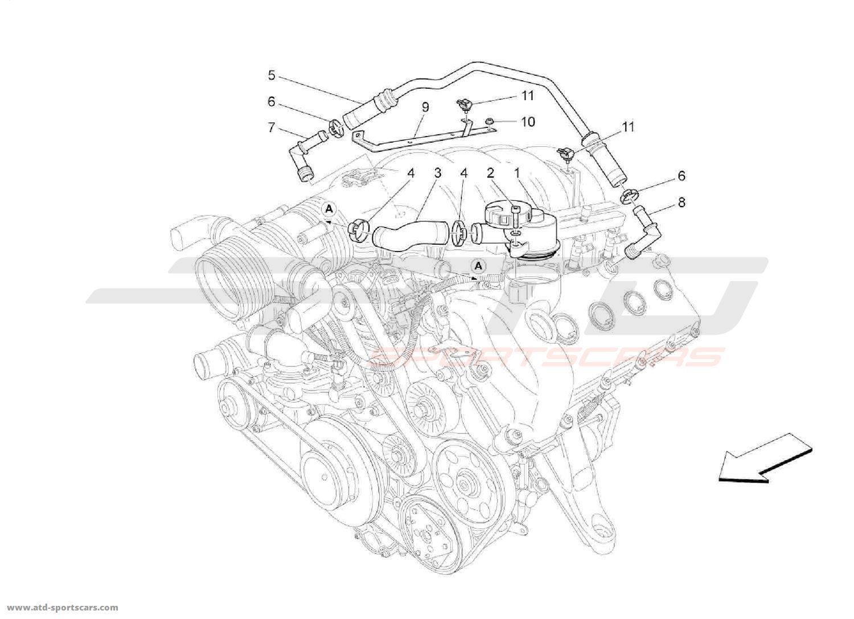 maserati quattroporte 4 2l boite auto 2008 air intake