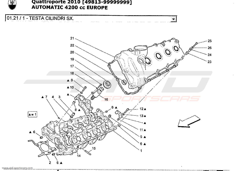 maserati quattroporte 4 2l boite auto 2010 engine parts at atd