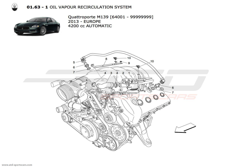 maserati quattroporte 4 2l boite auto 2013 air intake