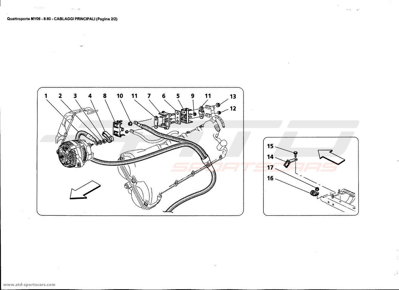 maserati quattroporte 4 2l boite f1 2006 electrical parts at atd