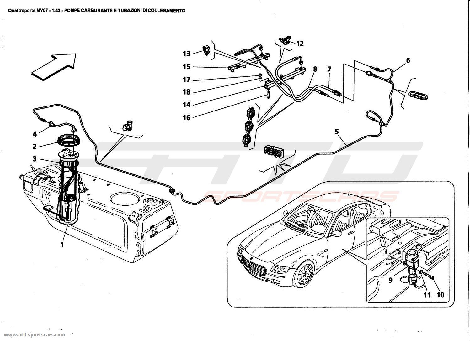 service manual  fuel pump 2007 maserati quattroporte
