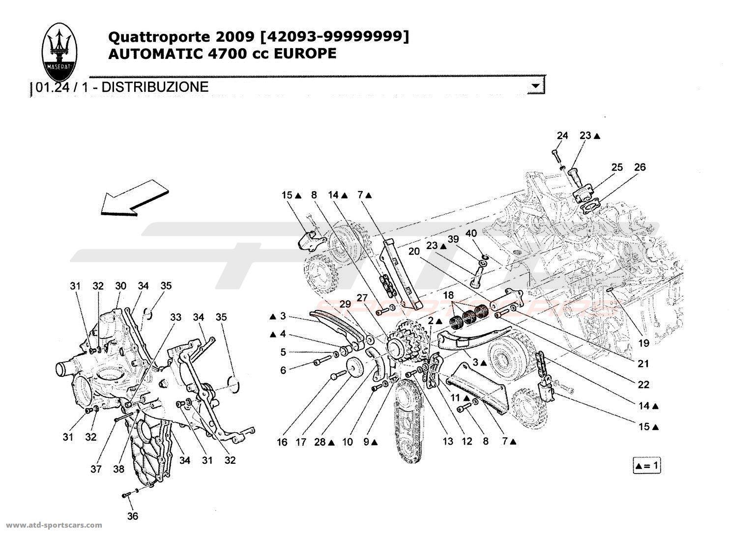 maserati quattroporte 4 7l boite auto 2009 engine parts at atd