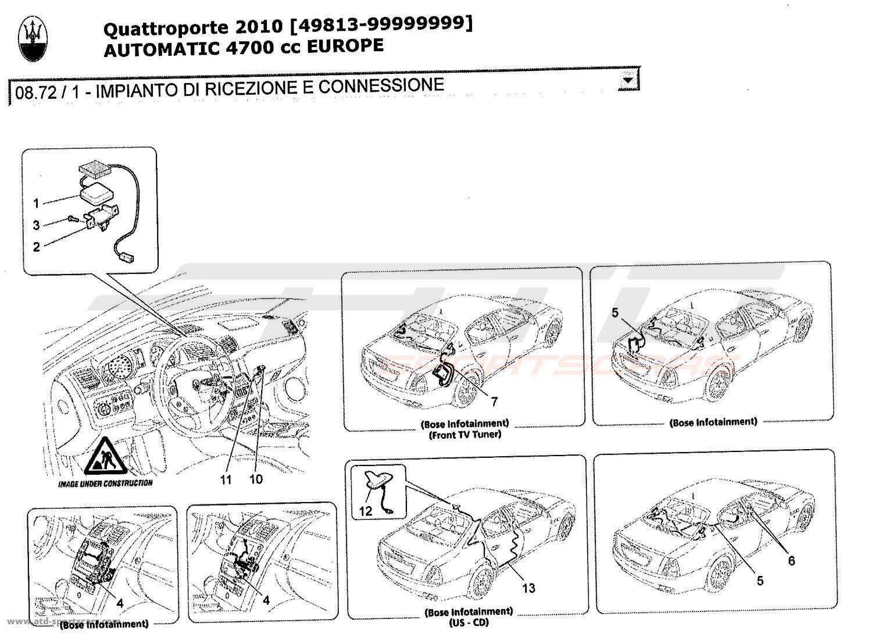 Maserati Quattroporte 47l Boite Auto 2010 Reception And Connection Wiring Diagram Granturismo System