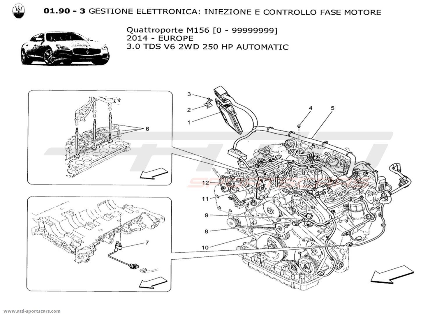maserati quattroporte engine diagram