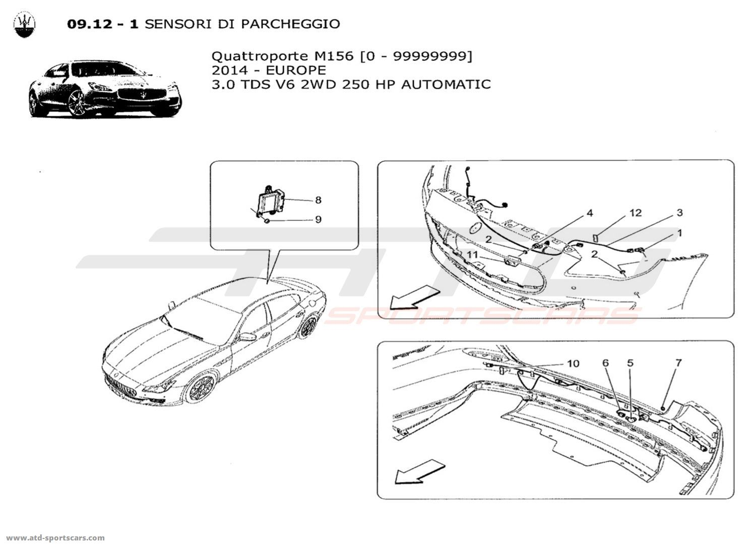 2014 Maserati Ghibli Fuse Box Trusted Wiring Diagrams Quattroporte V6 3 0l Diesel Auto Electrical Parts At Msrp