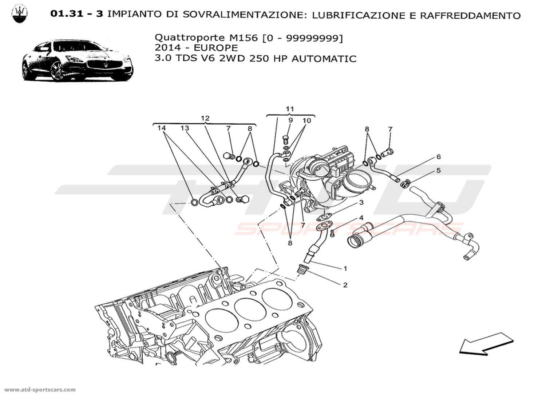 maserati quattroporte v6 3 0l diesel auto 2014